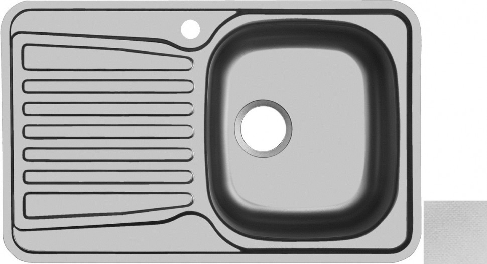 Кухонная мойка декоративная сталь Ukinox Комфорт COL780.480 -GT6K 1R ukinox fad 760 470 gt6k l