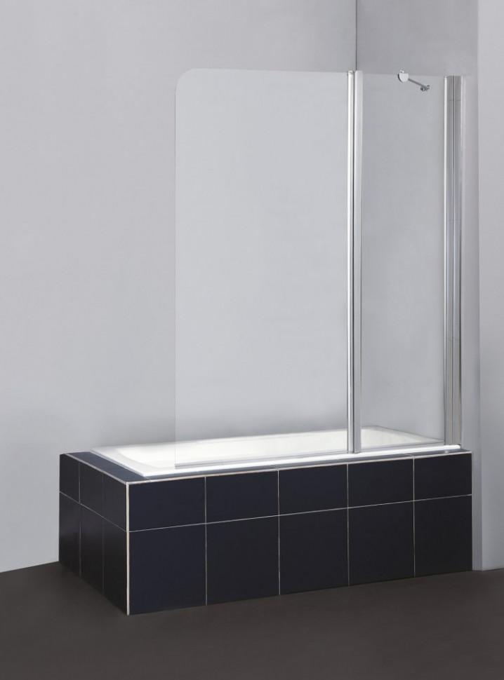 Шторка для ванны BelBagno Sela 120 см текстурное стекло SELA-V-11-120/140-Ch-Cr-R цена