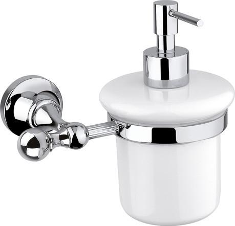 Дозатор для мыла подвесной хром, металл Cezares Olimp OLIMP-SOI-01-M дозатор для жидкого мыла cezares olimp olimp soi 02 m