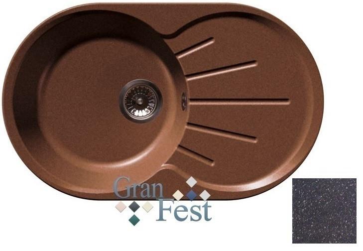 Кухонная мойка черный GranFest Rondo GF-R750L кухонная мойка черный granfest rondo gf r750l