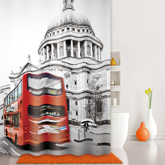 Штора для ванной комнаты IDDIS London Spirits 542P18RI11
