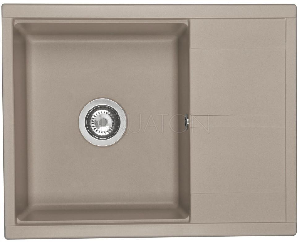 Кухонная мойка Акватон Делия серый шелк 1A718632DE250 кухонная мойка weissgauff quadro 650 eco granit серый шелк