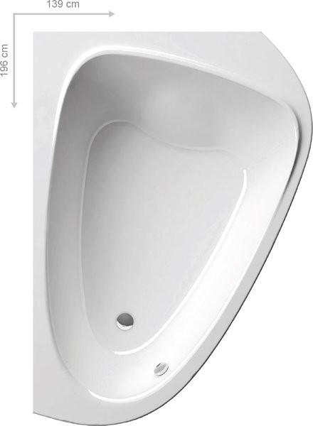 Акрилоая асимметричная ванна LoveStory II PU Plus P белая Ravak C781000000 акриловая асимметричная ванна lovestory ii l белая ravak c751000000
