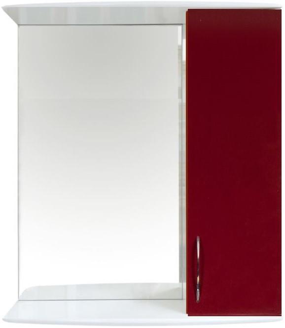 Зеркальный шкаф 50х70,1 см белый глянец/бордо глянец Orange Роса Ro-50ZSC
