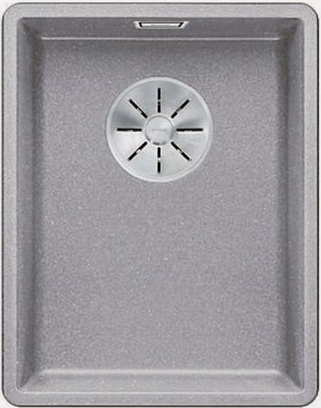 Кухонная мойка Blanco Subline 320-F InFino алюметаллик 523418 кухонная мойка blanco subline 320 f белый с отв арм infino 523419