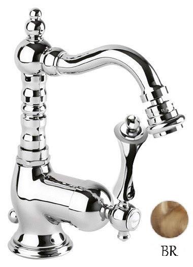 Смеситель для биде с донным клапаном бронза, ручка бронза Cezares Margot MARGOT-BSM2-02-M цены