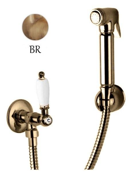 Гигиенический набор бронза, ручка белая Cezares First FIRST-KS-01-Bi