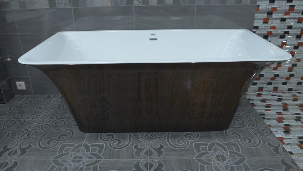 Акриловая ванна 160,5х77 см Lagard Evora Brown Wood lgd-evr-bw акриловая ванна lagard versa brown wood