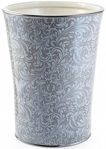 Корзина для мусора Kassatex Bedminster Scroll Flint Grey ATB-WB-FLG цена 2017