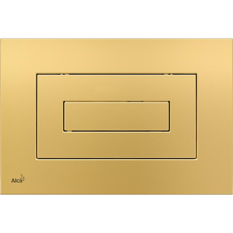 Смывная клавиша золото для двойного смыва AlcaPlast M475 цена