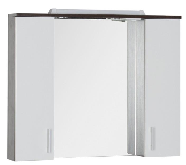 Зеркальный шкаф 90х74,6 см венге/белый Aquanet Тиана 00172399 зеркальный шкаф 64 5х85 1 см белый aquanet тулон 00183391