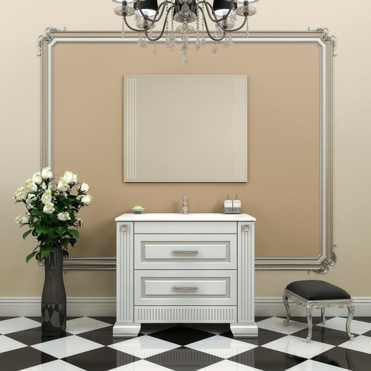 Комплект мебели белый серебряная патина 103 см Opadiris Оникс ONIX100KOMAG комплект мебели opadiris оникс z0000005573 z0000004912 10 010 01000 001