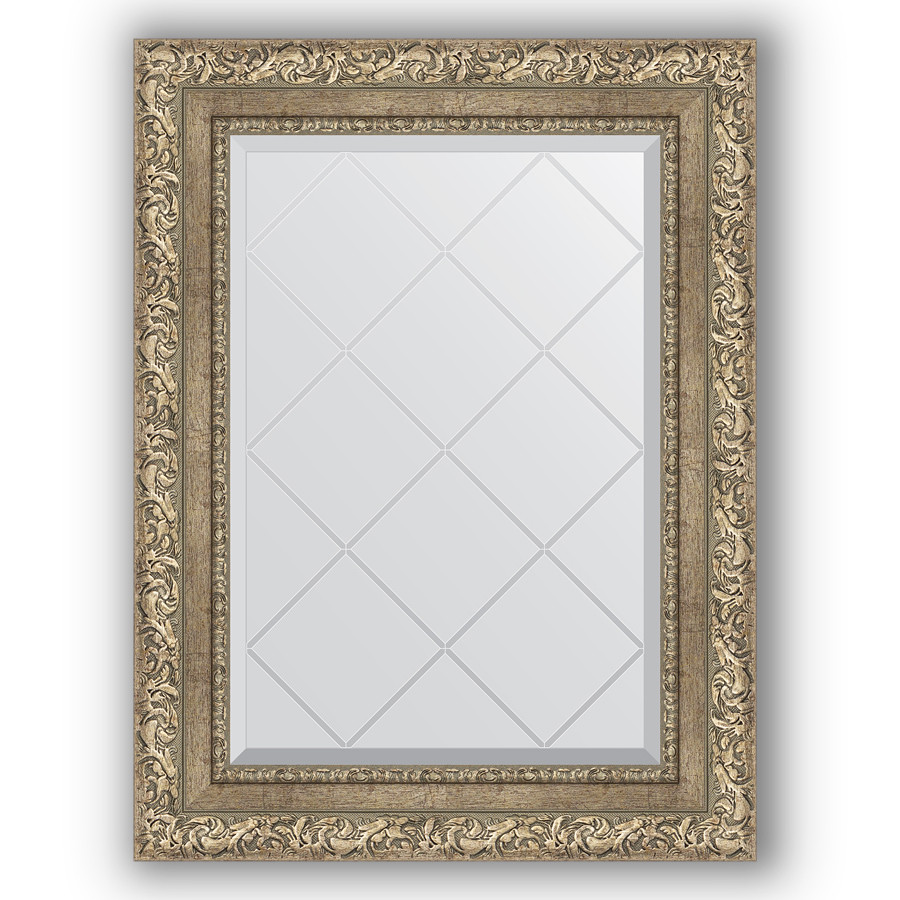 Зеркало 55х72 см виньетка античное серебро Evoform Exclusive-G BY 4014