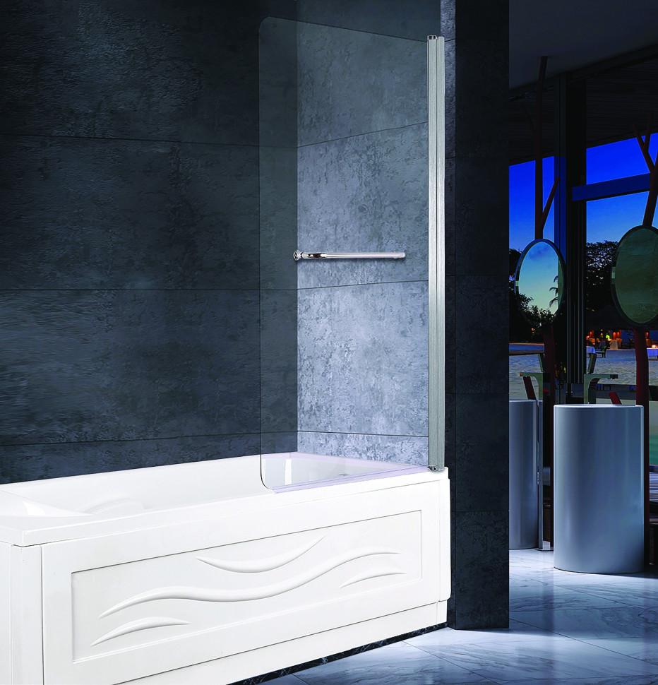 Шторка для ванны 80 см прозрачное стекло Esbano ES-1480 недорого