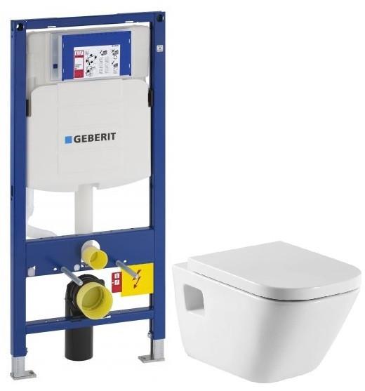 Комплект подвесной унитаз Roca The Gap 346477000 + 801472004 + система инсталляции Geberit 111.300.00.5 фото