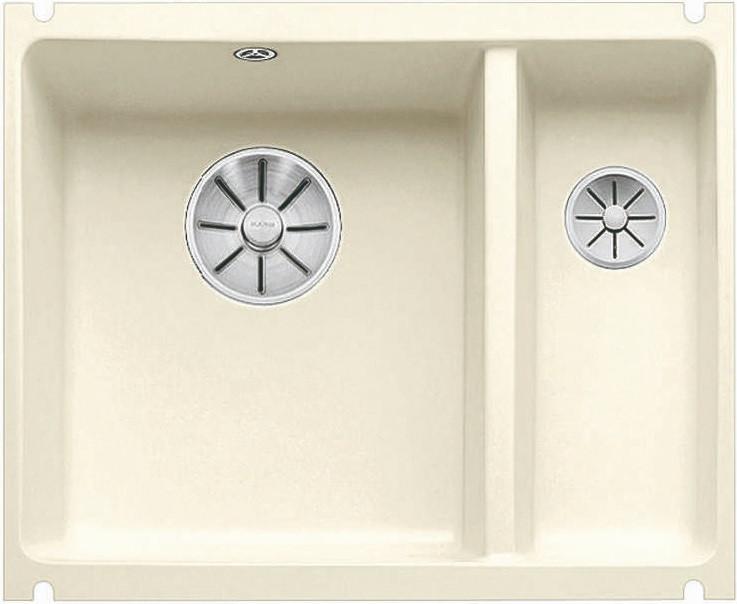 Кухонная мойка Blanco Subline 350/150-U InFino глянцевый магнолия 523742 blanco subline 350 150 u серый алюминий