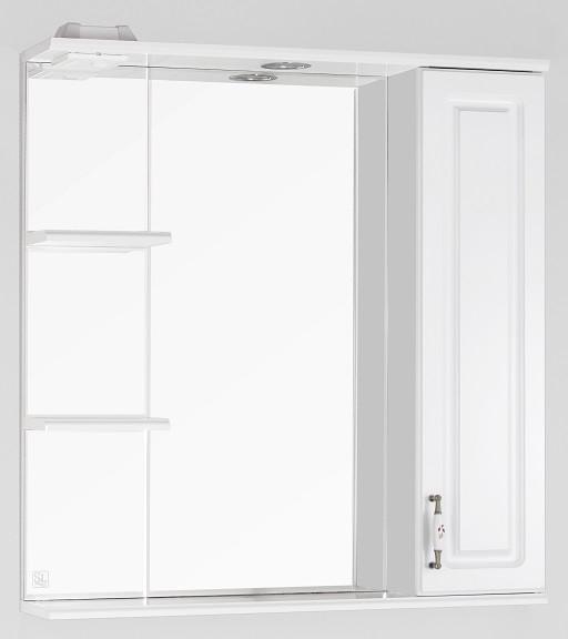 все цены на Зеркальный шкаф 75х83 см белый глянец Style Line Олеандр-2 LC-00000051 онлайн