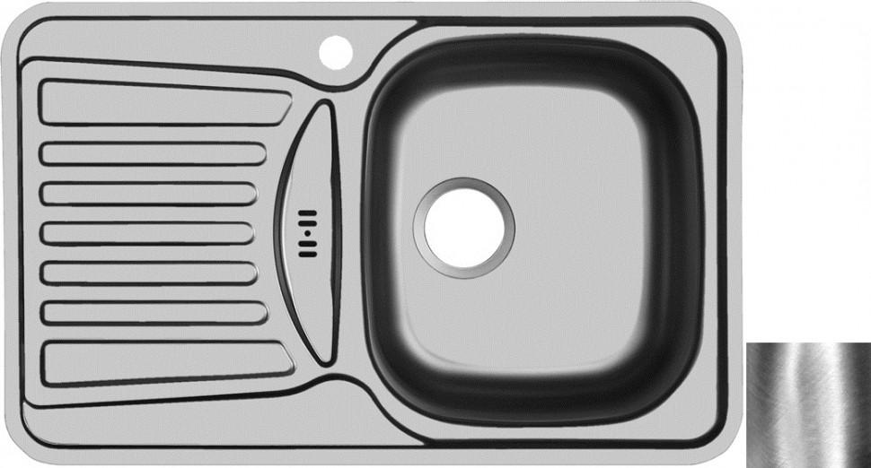 Кухонная мойка полированная сталь Ukinox Комфорт COP780.480 -GW8K 1R кухонная мойка полированная сталь ukinox фаворит fap770 480 gw8k 2l