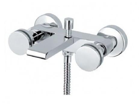 Смеситель для ванны хром, ручки хром Cezares Flat FLAT-V-01