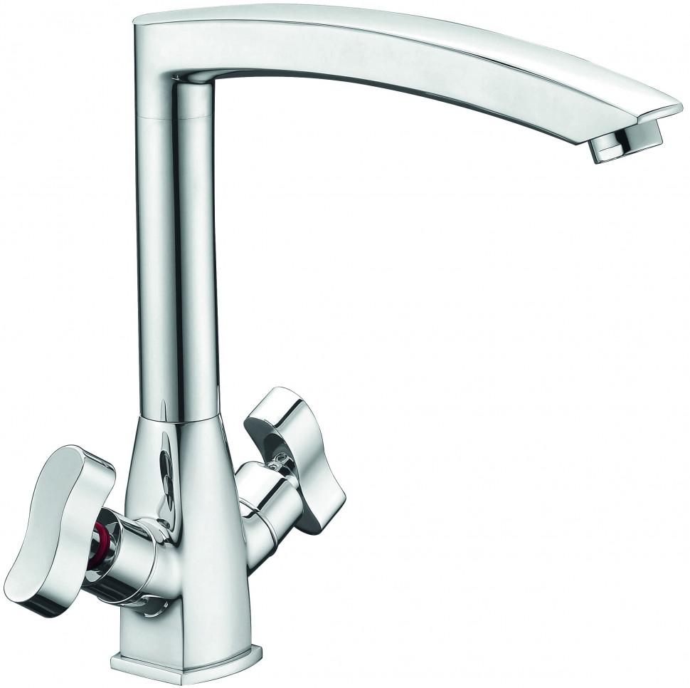 Смеситель для кухни Elghansa New Wave Zeta 5907592 2720163 смеситель kimberli 2720163 двухвентильный для ванной хром elghansa