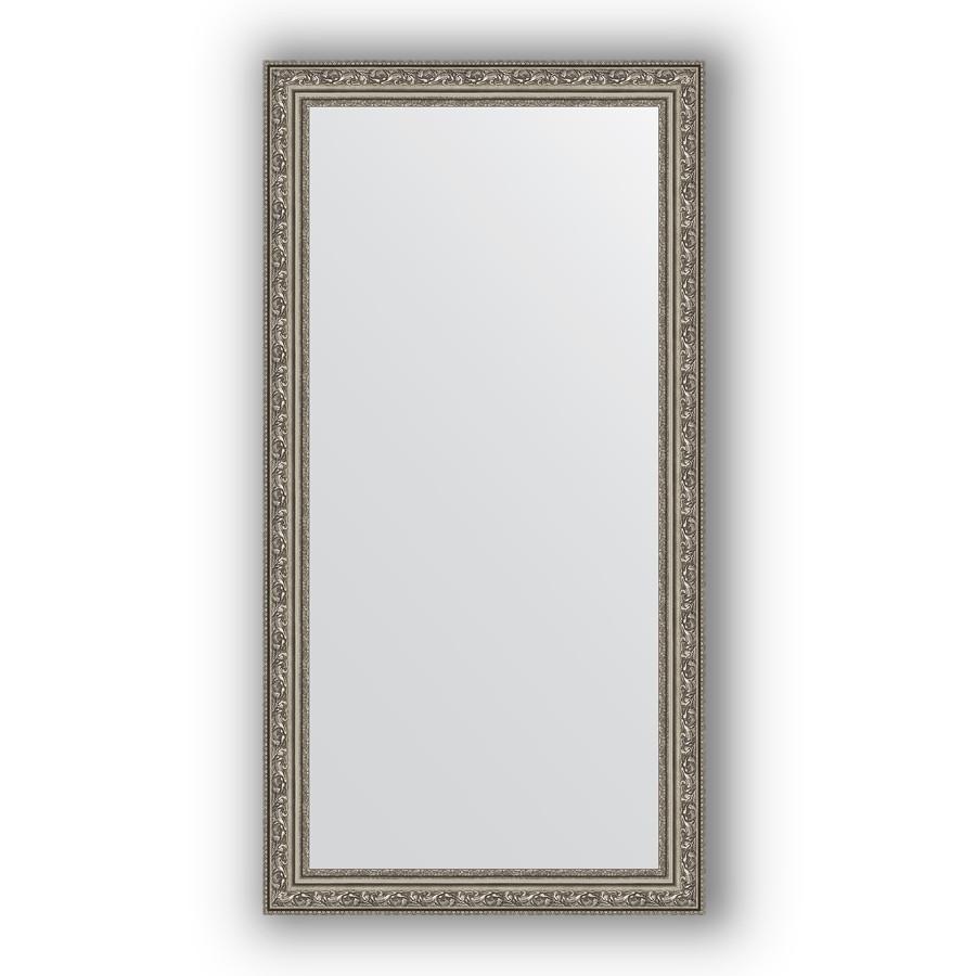 цена Зеркало 54х104 см виньетка состаренное серебро Evoform Definite BY 3072