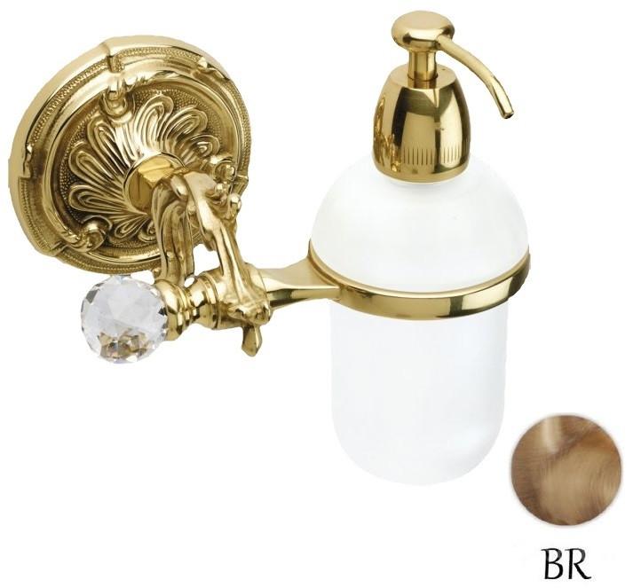 Дозатор жидкого мыла с держателем бронза Art&Max