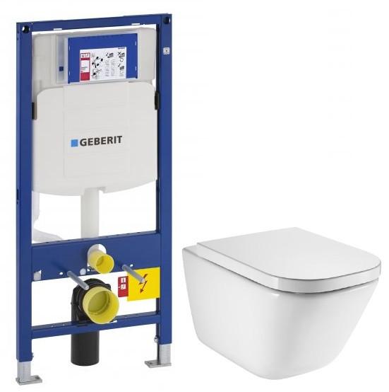 Комплект подвесной унитаз Roca The Gap 34647L000 + 801472004 система инсталляции Geberit 111.300.00.5
