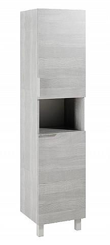 Пенал напольный универсальный с бельевой корзиной дуб седой Aqwella Brig Br.05.04.K/Gray