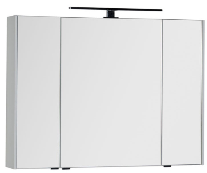 Зеркальный шкаф 100х75 см белый Aquanet Латина 00179636 зеркальный шкаф 55х88 1 см белый aquanet стайл 00181511