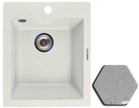 Кухонная мойка SCANDIC Lava Q3.SCA врезная кухонная мойка 42 5 см lava q3 q3 sca scandic