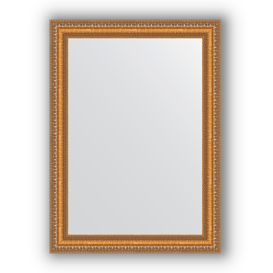 Зеркало 55х75 см золотые бусы на бронзе Evoform Definite BY 3042 зеркало evoform definite 155х75 золотые бусы на бронзе