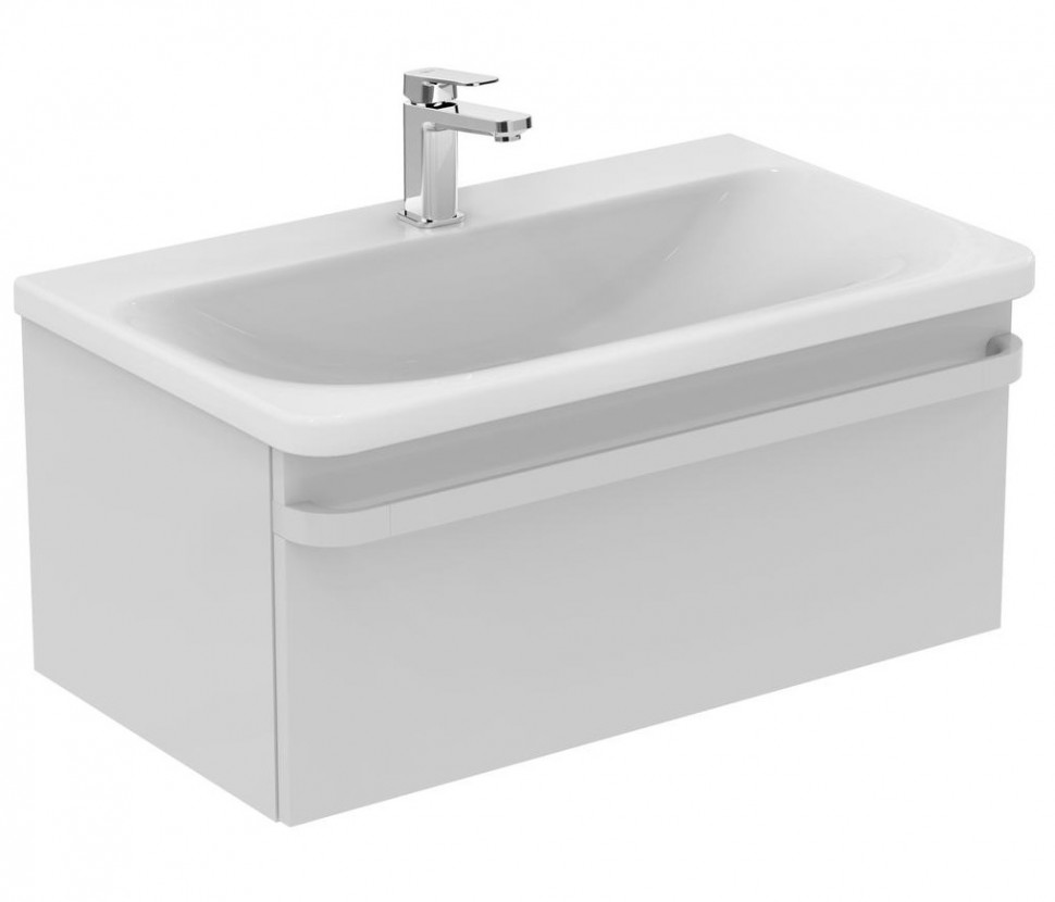 Тумба белый глянец 80 см 1 ящик Ideal Standard Tonic II R4303WG раковина ideal standard tonic ii 80 k087901