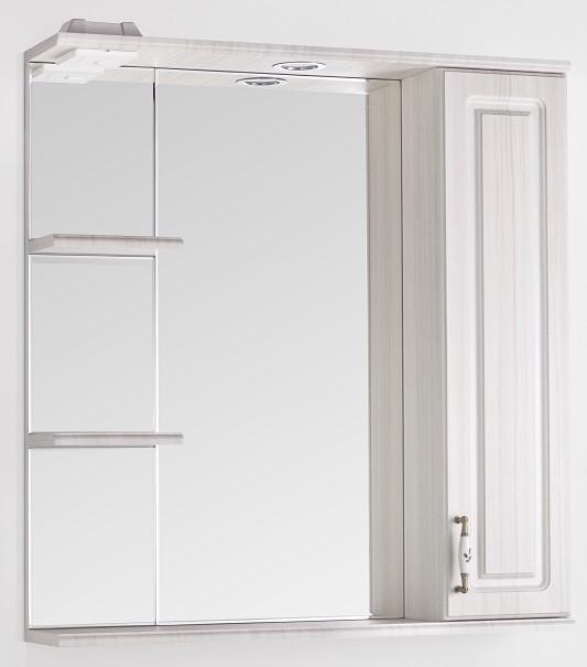 все цены на Зеркальный шкаф 75х83 см рельеф пастель Style Line Олеандр-2 LC-00000203 онлайн