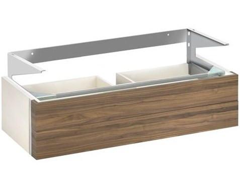 Тумба белый/грецкий орех 95 см 2 выдвижных ящика KEUCO Edition 300 30384386800 keuco зеркало для ванной keuco edition 300 95 см