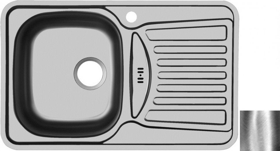 Кухонная мойка полированная сталь Ukinox Комфорт COP780.480 -GW8K 2L