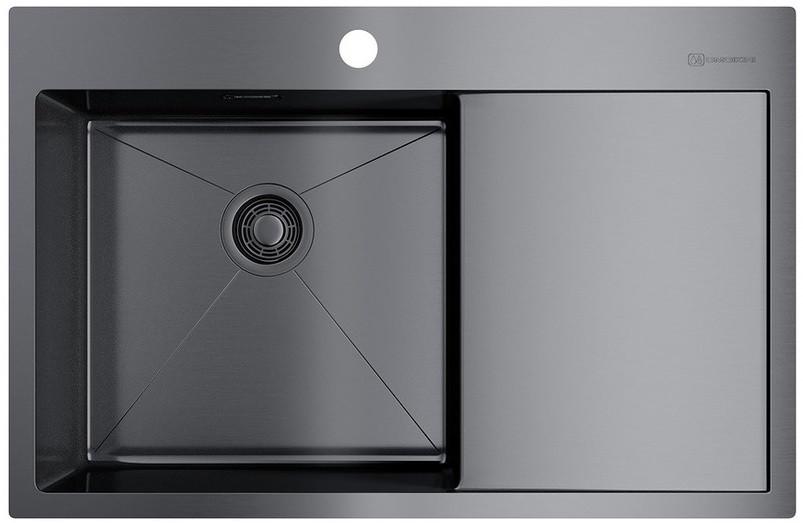 цена на Кухонная мойка вороненая сталь Omoikiri Akisame 78-GM-L