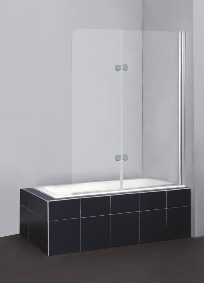 все цены на Шторка для ванны BelBagno Sela 120 см текстурное стекло SELA-V-21-120/140-Ch-Cr-R онлайн