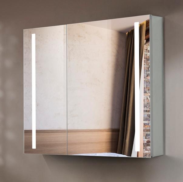 Зеркальный шкаф с подсветкой 80х70 см Esbano ES-2404 зеркальный шкаф bellezza миа 85 с подсветкой l белый