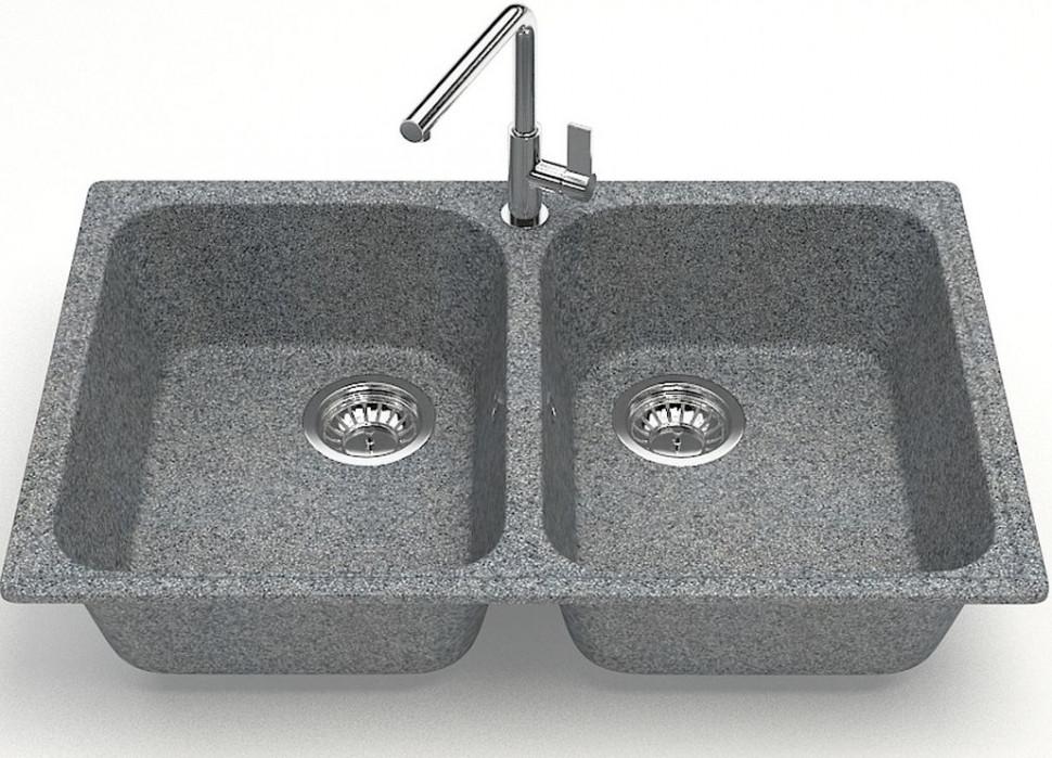 Фото - Кухонная мойка Zett Lab Модель 260 темно-серый матовый T260Q008 кухонная мойка zett lab модель 9 темно серый матовый t009q008