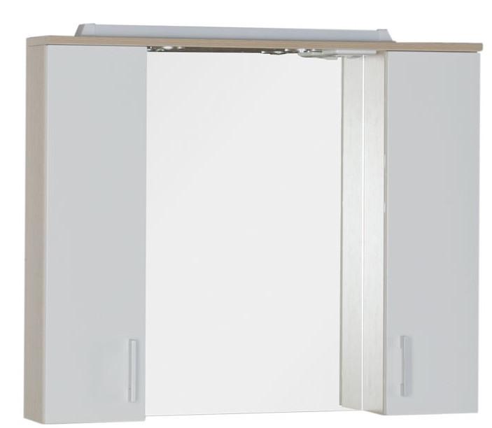 Зеркальный шкаф 90х74,6 см светлый дуб/белый Aquanet Тиана 00172807 комплект мебели aquanet тиана 100 с б к цвет светлый дуб фасад белый