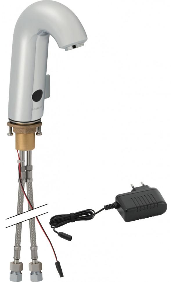 Сенсорный смеситель для раковины Geberit тип 60, питание от сети, с миксером и ручкой 115.722.21.1