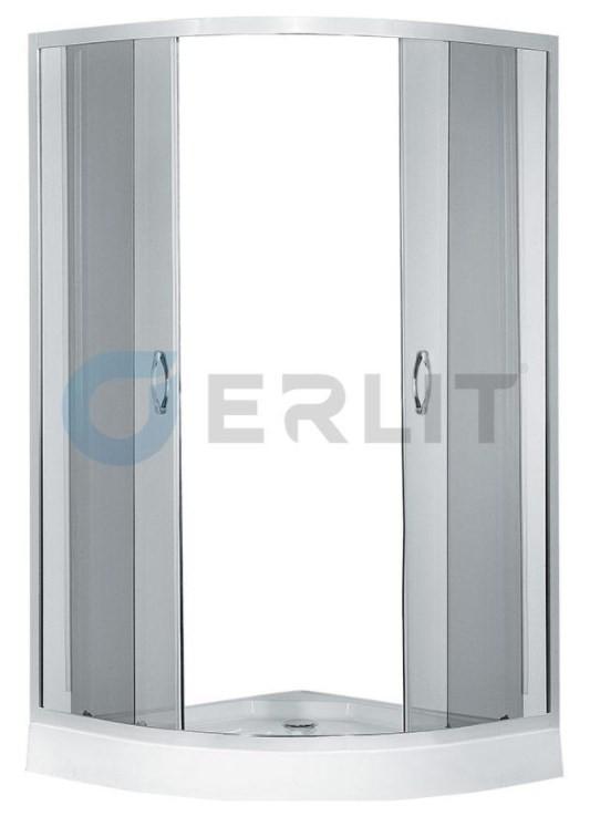 Душевой уголок с поддоном 80х80х195 см Erlit Comfort ER0508-C4 тонированное стекло