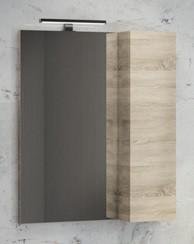 Зеркальный шкаф 60х80 см дуб сонома Comforty Тромсе 00004142221 зеркальный шкаф comforty кёльн 88 дуб темный 00004147987