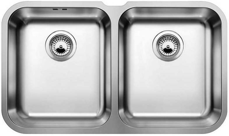 Фото - Кухонная мойка Blanco Supra 340/340-U полированная сталь 519716 кухонная мойка blanco supra 450 u 518203