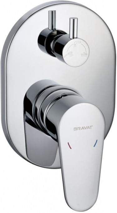 Фото - Смеситель для ванны Bravat Eler FB848238CP-3-RUS смеситель для ванны bravat art короткий излив бронза f675109u b1 rus
