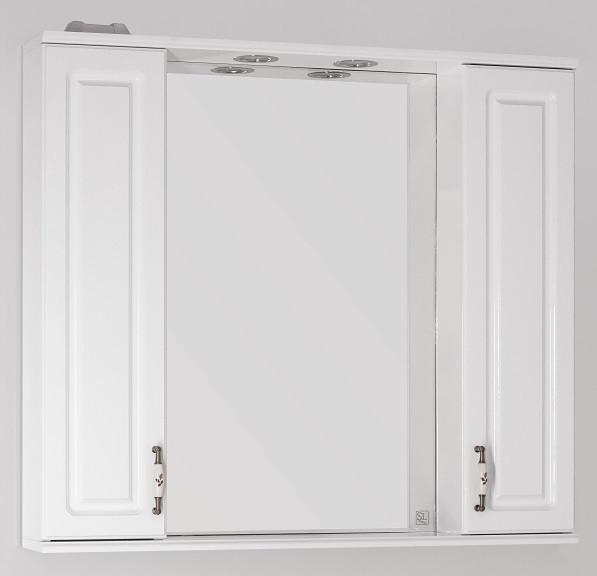 Фото - Зеркальный шкаф 90х83 см белый глянец Style Line Олеандр-2 LC-00000242 зеркальный шкаф 75х83 см белый глянец style line олеандр 2 lc 00000051