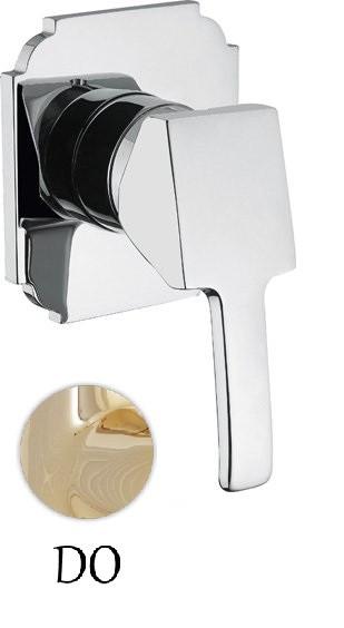 лучшая цена Встраиваемый однорычажный смеситель для душа золото 24 карата Cezares Legend LEGEND-DIM-03/24