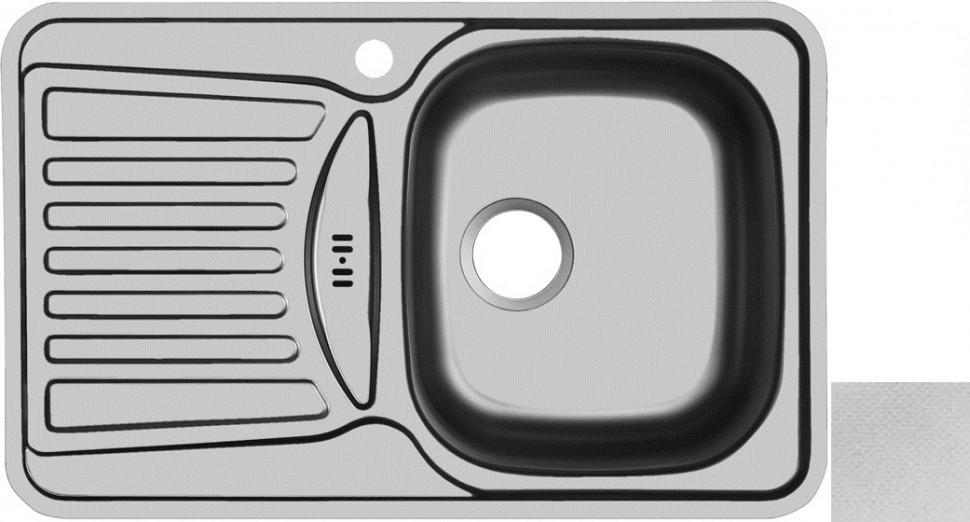 Кухонная мойка декоративная сталь Ukinox Комфорт COL780.480 -GW8K 1R цена