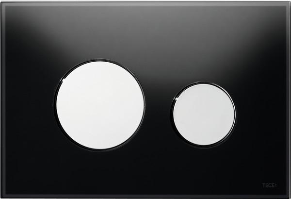 Смывная клавиша Tece TECEloop черный/глянцевый хром 9240656 смывная клавиша двухрежимная глянцевый хром vitra loop r 740 0680