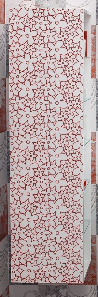 Пенал подвесной белый красная патина/белый глянец L Sanflor Санфлор H0000000669 prof press пенал красная лилия